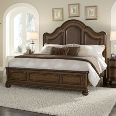 Pulaski Quentin Upholstered Panel Bed | from hayneedle.com