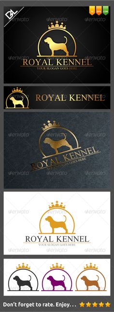 Royal Kennel Logo Design Template Vector #logotype Download it here: http://graphicriver.net/item/royal-kennel/7639993?s_rank=1176?ref=nexion