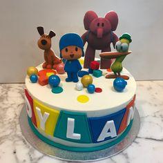 Tarta buttercream Pocoyo. Birthday Cake, Cupcakes, Desserts, Food, Fondant Cakes, Cake Birthday, Candy Stations, Pastries, Pocoyo