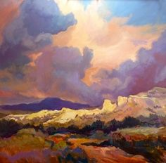 Cliffstone Hearts by Susan Pitcairn Oil ~ 36 x 36