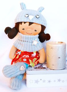 Fabric doll christmas gift cloth doll by Fairybugcreativetoys