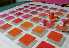 Shadow quilt. I love this. If I were more crafty, I would definitely try this.