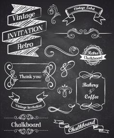 Hand drawn vintage elements | Lettering Shop