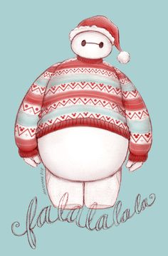 Baymax's Christmas in his Christmas sweater