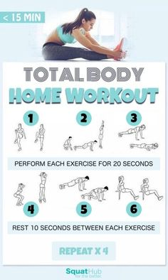 Get a total body blast at home in less than 15 minutes.
