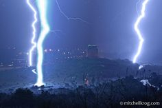 Massive lightning strikes captured over the Voortrekker Monument on the outskirts of Pretoria, South Africa!