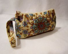 Pleated Wristlet  Clutch with beaded zipper by FelicitiesCrafts, $20.00