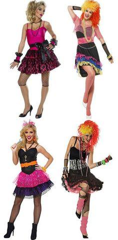 1980s Cyndi Lauper/Madonna style costumes