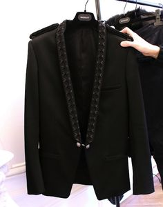 Balmain Homme Fall Winter 2012-2013 Embroidered Blazer