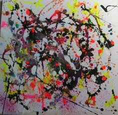 Emotional Turbulence 3 Mixed Media  50x50 Ink Painting, Wax, Mixed Media, My Arts, Mixed Media Art, Laundry