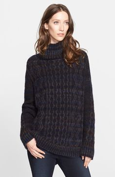 Nordstrom Signature and Caroline Issa Cable Knit Oversize Cashmere Sweater