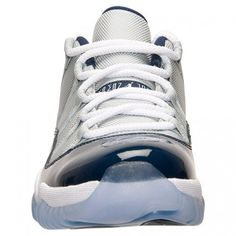 New Air Jordan 11 (XI) Retro Low Grey Mist White-Midnight Navy shoes cheap  sale online. dca817df3