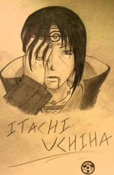 My first drawing of Itachi Uchiha with the ispiration of a japanese cosplayer :3 I am not a big fan of Naruto but...Itachi, Sasuke and Kakashi are... :Q____ wow...