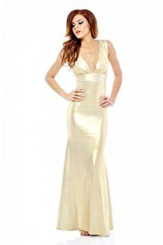 9f99985d0a5 Gold Fishtail Floor Length Dress - AX Paris Gold Formal Dress