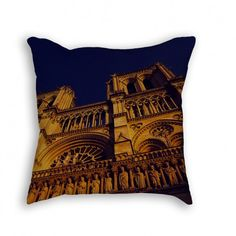 """Throw Pillow with Stuffing/Insert - """"Notre Dame"""" 