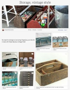 Storage, vintage style! A collection of cool ways to store things in your style! Curated by Funky Junk Interiors for Ebay