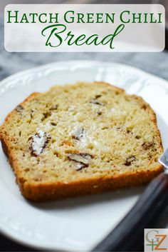 This Hatch Green Chili Bread with crunchy pecans. It's lightly sweet with a bit of heat. Use fresh or canned green chiles for this easy quick bread. Hatch Green Chili Recipe, Green Chili Recipes, Hatch Chili, Mexican Food Recipes, Chilli Recipes, Cooking Bread, Cooking Recipes, Bread Recipes, Chile