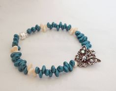 Blue Bead Bracelet - Blue Iris & Ivory Super Duo Bead Bracelet - Minimal  Modern Everyday Jewelry - Handcrafted Bracelet - Gift for Her by IvanRoseCreations on Etsy