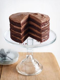 chocolate buttermilk layer cake with chocolate cream cheese frosting | donna hay