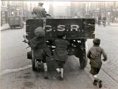 Scutting on a Truck in Parnell St, Dublin in 1947