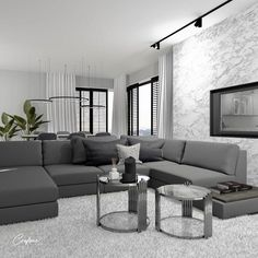 Grey Living Room Ideas You Must Look - Crafome Living Room Decor Grey Walls, Wall Painting Living Room, Living Room Sofa, Living Room Interior, Living Room Goals, Living Room Trends, Living Room Inspiration, Living Room Designs, Grey Painted Walls