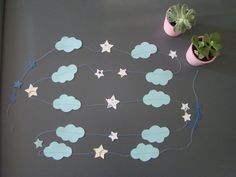 Guirlande papier nuage étoile Lulu & Rose