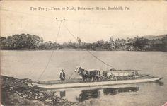 The Ferry:  PA to NJ, Bushkill PA Bushkill Pa, Crane Drawing, Delaware River, Lehigh Valley, History, Pennsylvania, Painting, Farmer, Daughter