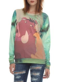 Disney The Lion King Trio Girls Pullover Top Juniors