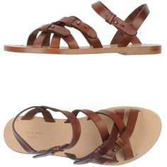 Rag & Bone Sandals (720 BRL) ❤ liked on Polyvore featuring shoes, sandals, flats, brown, brown strappy sandals, buckle sandals, brown flats, strappy flats and strappy sandals