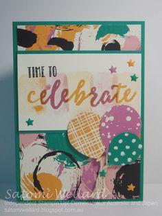 Satomi Wellard-Independent Stampin'Up! Demonstrator Australia and Japan, #stampinup, #su, #satomiwellard, #cardmaking,   #papercrafing ,  #handmade,  #stamping , #occasionscatalogue2017, #cardmakingclass, #newyearscard, #happycelebrations, #celebrationsduoembossingfolders, #stampkissing, #kissingtechnique,