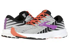 ddef2d1911984 Brooks Launch 6 Women s Running Shoes Grey Black Purple