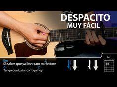 Cómo tocar Despacito fácil en guitarra (sin cejilla) | Guitarraviva - YouTube