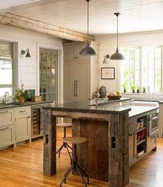 Diseño de Interiores & Arquitectura: 30 Fabulosas Ideas Para Islas de Cocinas Rústicas Que Puedes Hacer Por Ti Mismo