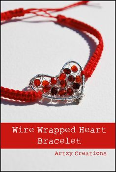 Wire-Wrapped Heart Bracelet from Artzy Creations.