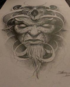 moth face by AndreySkull on DeviantArt Satanic Tattoos, Evil Tattoos, Scary Tattoos, Satanic Art, Scary Drawings, Dark Art Drawings, Tattoo Design Drawings, Voodoo Tattoo, Demon Tattoo