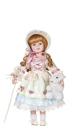 Little Bo Peep, porcelain doll by Goldenvale Porcelain Jewelry, Porcelain Ceramics, Porcelain Tiles, Fine Porcelain, Porcelain Dolls Value, Little Bo Peep, China Dolls, Madame Alexander Dolls, China Patterns