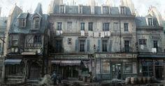 Avenue Des Commercants Concept Art Assassin's Creed Unity Ac Paris, Anime Places, Assassins Creed Unity, Building Concept, Game Environment, Anime Scenery, Concept Art, Exterior, Landscape
