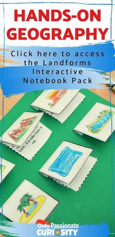 Make your geography more fun with the Hands-on Geography Landform Interactive Notebook pack. This Landforms Interactive Notebook has a couple of different elements: Landforms Visual Dictionary, Mapping the Landforms of the United States, Interactive Notebook Elements Hands On Geography, Geography For Kids, Geography Map, Geography Lesson Plans, Geography Activities, Math Activities, Visual Dictionary, Study History, Teaching History