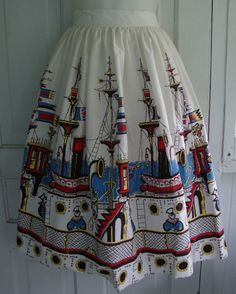 Sea Cruise Novelty Skirt | The Vintage Traveler