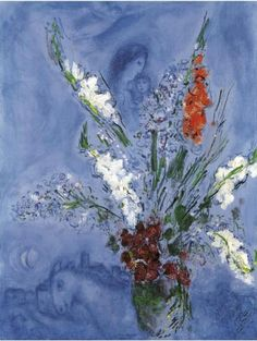 Marc Chagall - Between Surrealism & NeoPrimitivism Marc Chagall, Pablo Picasso, Folklore Russe, Matisse, Paintings Famous, Georges Braque, Mystique, Jewish Art, Moon Art