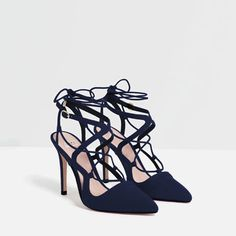 Image 4 of HIGH HEEL LACE-UP SHOES from Zara