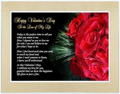 Valentine Gift For Wife Husband Friend Or Boyfriend S Day Love Of My