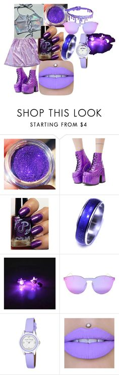"""Lavender Lullaby"" by candyboy466 on Polyvore featuring Demonia, Illesteva, Laura Ashley and Jeffree Star"