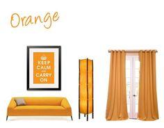 """Orange"" by lillieshade on Polyvore featuring interior, interiors, interior design, home, home decor, interior decorating and EFF"