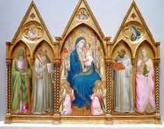 Madonna Enthroned With Saints and Angels, National Gallery of Art AGNOLO GADDI (1350 circa – 15 ottobre 1396) #TuscanyAgriturismoGiratola
