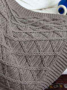 Ravelry: Aran Blanket pattern by Brenda York  issu d'un livre payant