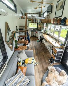 Sometimes life is messy and sometimes so is your tiny house. But that's okay, it's takes no time to clean it up! Tiny House Storage, Small Tiny House, Tiny House Living, Tiny House Plans, Small Living, Tiny House Nation, Tiny House Trailer, Small Room Design, Tiny House Design