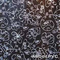 PVC Neon Flowers Oilcloth Vinyl Tablecloth Wipe Easy 140CM Wide