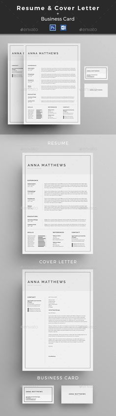 Professional Single Page Resume Template - Get that job! Resume