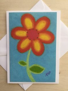 Stationery Cards a Set of 10- Junior Petals Orange Blast